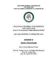 Kalp Damar Cerrahisi - Süleyman Demirel Üniversitesi