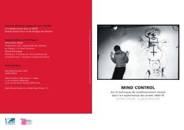 mind control - Histoire culturelle et sociale de l'art - Université Paris ...