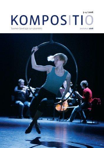 Kompositio 03 / 2008 - Suomen Säveltäjät ry
