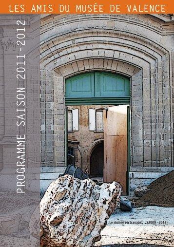 programme saison 2011-2012 - Amis du musee de valence
