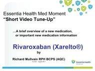 Rivaroxaban (Xarelto) - Essentia Daily Dose - Essentia Health