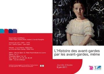 Histoire-des-avantgardes 10 mai 2011_ web.pdf - Université Paris 1 ...