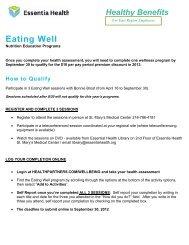Eating Well - Essentia Daily Dose - Essentia Health