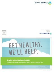 A guide to Healthy Benefits 2012 - Essentia Daily Dose