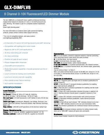 8 Channel 0-10V Fluorescent/LED Dimmer Module