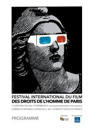 Programme - Festival international du film des Droits de l'Homme