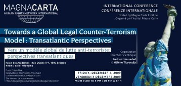 Towards a Global Legal Counter-Terrorism Model ... - CREDHO