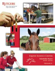 July 1, 2011 - June 30, 2012 - Rutgers Equine Science Center