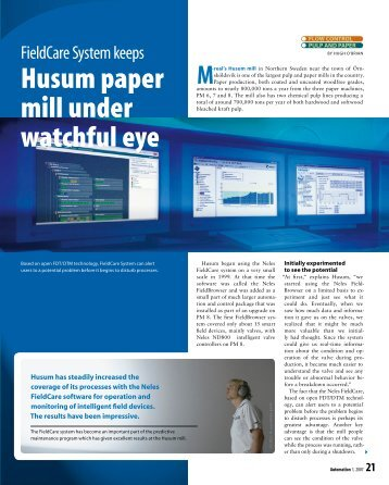 M-real's Husum mill (.pdf) - Metso