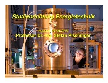 Studienrichtung Energietechnik Studienrichtung Energietechnik