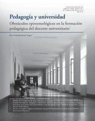 Pedagogía y universidad Obstáculos ... - Inicio - UMNG