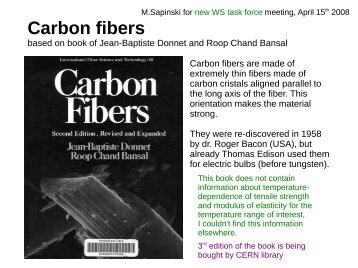 Carbon fibers - Wire Scanner Design Project web - CERN