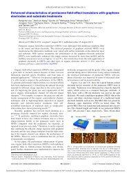 Enhanced characteristics of pentacene field-effect transistors with ...