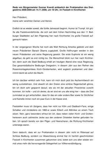 Prinzenproklamation 2008 - Gunnar Koerdt