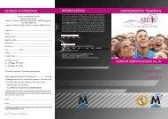 orthodontic training SCheDa Di aDeSiOne inFOrmaziOni - Micerium