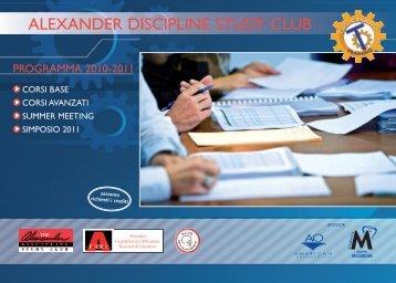 ALEXANDER DISCIPLINE STUDY CLUB - Micerium