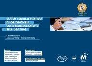 corso teorico-pratico di ortodonzia sulle ... - Gruppo Micerium
