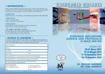 CHIRURGIA IMPLANTARE GUIDATA CON ... - Gruppo Micerium