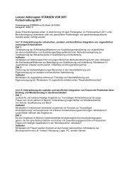 Fortschreibung des lokalen Aktionsplanes 2011 - Integration ...