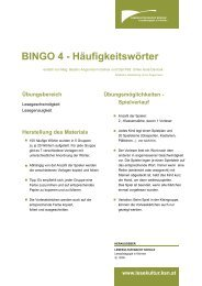 BINGO 4 - Häufigkeitswörter - Lesekultur macht Schule