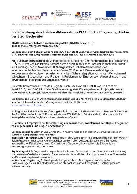 Fortschreibung des Lokalen Aktionsplanes 2010 - Integration ...