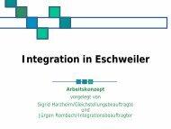 Arbeitskonzept - Integration Eschweiler