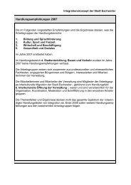 Handlungsempfehlungen 2007 - Integration Eschweiler