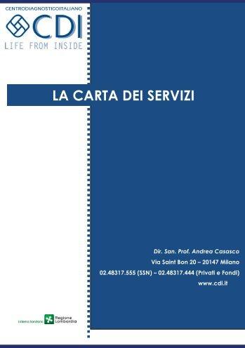 LA CARTA DEI SERVIZI - CDI