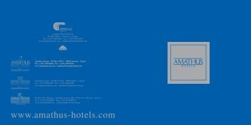 Amathus Hotels Brochure - Amathus Beach Hotel