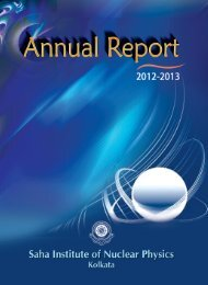Draft Annual Report 2012-13 - Saha Institute of Nuclear Physics