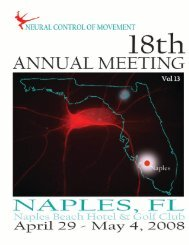 2008 Program - Society for the Neural Control of Movement