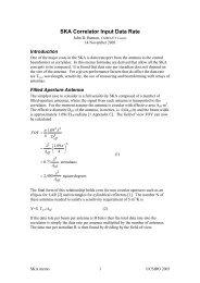 SKA Correlator Input Data Rate - The Square Kilometre Array