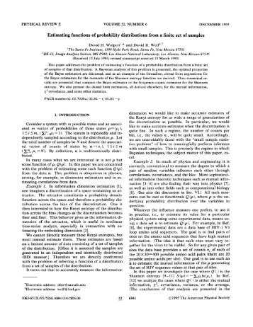 Estimating functions of probability distributions from a finite set of ...