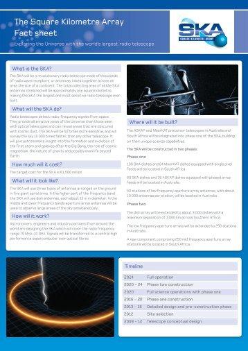 SKA factsheet