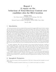 Report 1 A report on the behaviour of Total Electron Content over ...