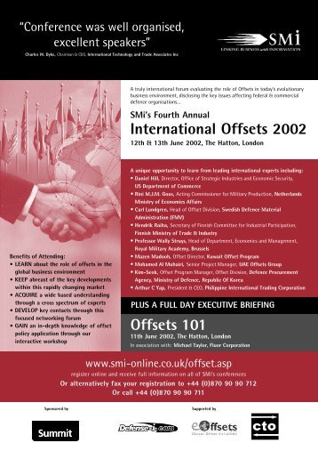 International Offsets 2002 Offsets 101 - SMi Online