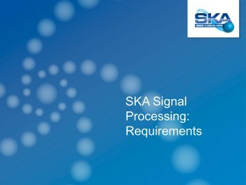 SKA Signal Processing: Requirements