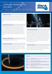 The Square Kilometre Array Fact sheet - SKA