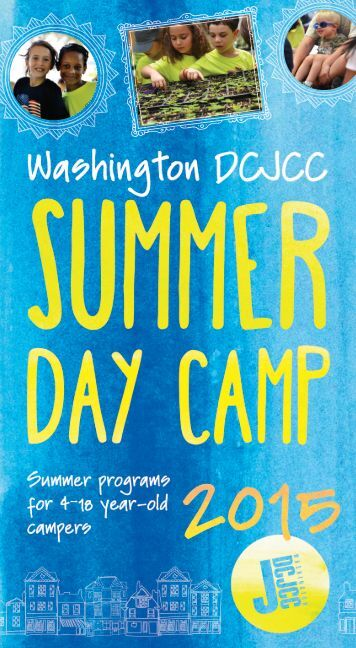 2015 Washington DCJCC Summer Day Camp