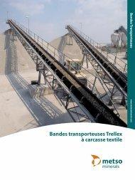 Bandes transporteuses Trellex à carcasse textile - Metso
