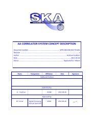 AA CORRELATOR SYSTEM CONCEPT DESCRIPTION - SKA