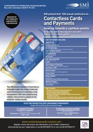 Contactless Cards and Payments - SMi Online