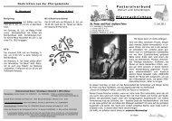 4. Juli bis 10. Juli 2011 - Pastoralverbund Welver-Scheidingen
