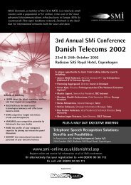 Danish Telecoms 2002 - SMi Online