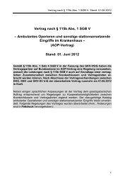 Vertrag nach § 115b Abs. 1 SGB V – Ambulantes Operieren ... - DKVG