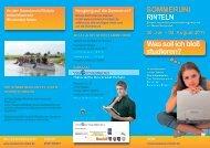 Sommeruni Rinteln - Gymnasium der Stadt Kerpen