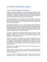Tips for Writing Letters to the Editor.