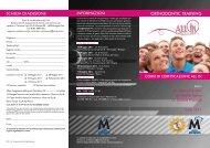 orthodontic training inFoRMazioni Scheda di adeSione - Micerium
