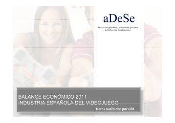 balance económico 2011 industria española del videojuego - aDeSe