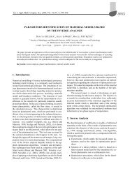 PARAMETERS IDENTIFICATION OF MATERIAL MODELS BASED ...